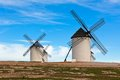 Old Spanish windmills Royalty Free Stock Images