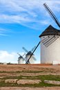 Old Spanish windmills Royalty Free Stock Photography