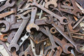 Old spanners Stock Image