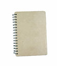 Old spiral notebook isolated white background Stock Image