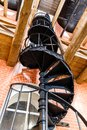 Old spiral staircase made of cast iron in the water tower Royalty Free Stock Photo