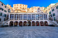 Old square in town Sibenik, Croatia. Royalty Free Stock Photo
