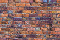 Old stains brick wall background texture. Royalty Free Stock Photo