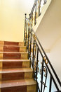 Old stair close view of indoor Royalty Free Stock Image