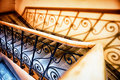 Old staircase at a historic building Royalty Free Stock Images