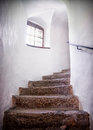 Old staircase at a historic building Royalty Free Stock Photos