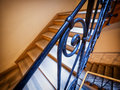 Old staircase at a historic building Royalty Free Stock Photography