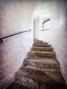 Old staircase at a historic building Stock Image
