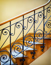 Old staircase at a historic building Royalty Free Stock Image