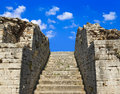 Old stairs and sky Royalty Free Stock Photography