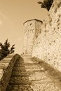Old stairs to the tower Royalty Free Stock Photography