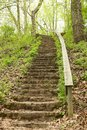 Old stairway in park Royalty Free Stock Photo