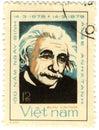Old stamp with Albert Einstein Royalty Free Stock Photo