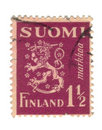 Old stamp from Finland Royalty Free Stock Photo