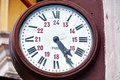 Old station clock Royalty Free Stock Photo