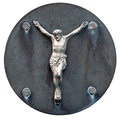 Old statue of Jesus crucified Royalty Free Stock Photography