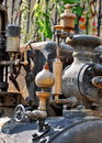 Old steam engine detail Royalty Free Stock Photo