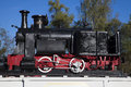 Old steam engine first locomotive based on made in resita romana Royalty Free Stock Photo