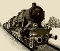 Old steam engine locomotive Royalty Free Stock Photo