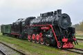 Old steam locomotive. Royalty Free Stock Photo