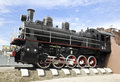 Old steam locomotive monument of with a engine Stock Images