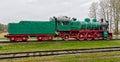 Old steam locomotive. Royalty Free Stock Photo