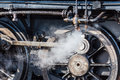 Old steam locomotive wheel Royalty Free Stock Photo
