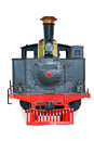 Old steam locomotive on white Royalty Free Stock Photo