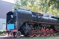 Old steam train an parked on the tracks Royalty Free Stock Photography
