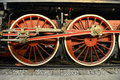 Old steam train wheels whells of Royalty Free Stock Photo