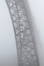Old steel bridge in the mist Royalty Free Stock Photo