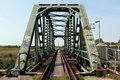Old steel railway bridge Royalty Free Stock Photo