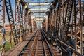 Old Steel Railway Bridge Frame