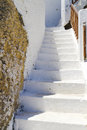 Old steps in Matala on Crete Stock Image