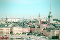 Old stockholm sweden view of famous gamla stan the town cross processed color tone retro image filtered style Stock Photography