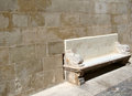 Old stone bench Royalty Free Stock Photography