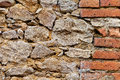 Old stone and brick wall for background or texture Stock Photography