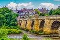 Old Stone Bridge across the River Tyne at Corbridge Royalty Free Stock Photo