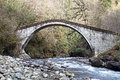 Old stone bridge in camlihemsin turkey Royalty Free Stock Photo