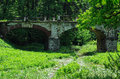 Old stone bridge in manor serednikovo recognized pattern of landscape and architecture of the th century russia Royalty Free Stock Photo