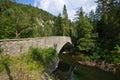 Old stone bridge over the Hornad river, Slovakia Paradise