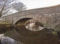 Old stone bridge over a stream Royalty Free Stock Photo