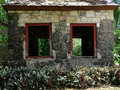 Old Stone Building in Tropical Setting Royalty Free Stock Photo