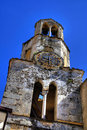 Old stone church bell tower Royalty Free Stock Images