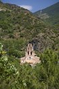 Old stone church in the Pyrenees Mountains, Province of Huesca, Spain Royalty Free Stock Photo