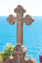 Old stone cross Royalty Free Stock Photography