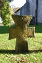 Old stone cross in churchyard Royalty Free Stock Images