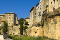 Old stone houses built on the rock region of luberon provence france Royalty Free Stock Image