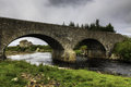 An old stone mill and bridge in Thurso, Scotland Royalty Free Stock Photo