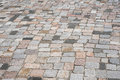 Old stone pavement - mixed cobblestone background